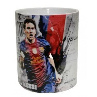 Чашка Барселона Мэсси серая