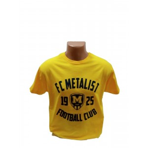 Футболка трикотажная ФК Металлист 1925 модель CLUB желтая