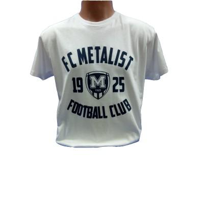 Футболка трикотажная ФК Металлист 1925 модель CLUB белая