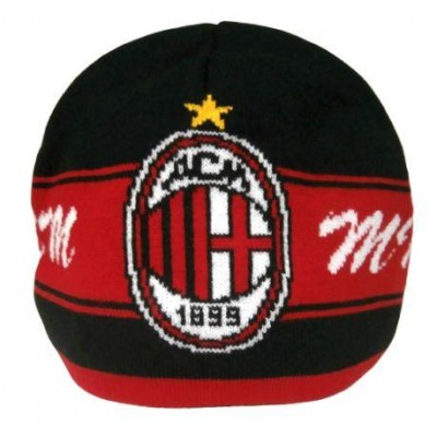 Шапка зимняя ФК Милан Италия