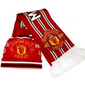 Набор шарф и шапка  ФК Манчестер Юнайтед