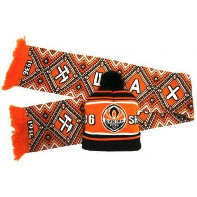 Набор шарф и шапка  ФК Шахтер
