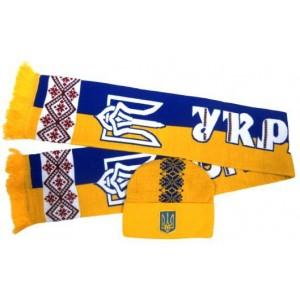 Набор шарф и шапка  Украина модель Олесь