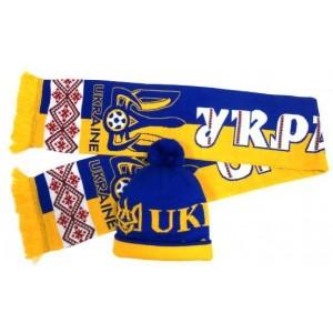 Набор шарф и шапка  Украина модель Бажан