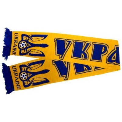 Шарф сборной Украины по футболу желтый