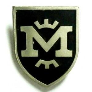 Значок ФК Металлист 1925 фан черный