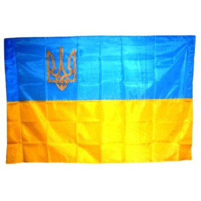 Флаг Украины  тризуб