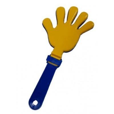 Ладошка - трещотка желто-синяя