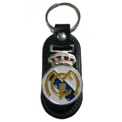 Брелок ФК Реал Мадрид  металлический на кожаной подложке