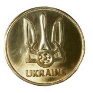 Сувенирная монета сборной Украины по футболу