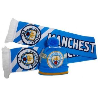 Набор шарф и шапка  ФК Манчестер Сити