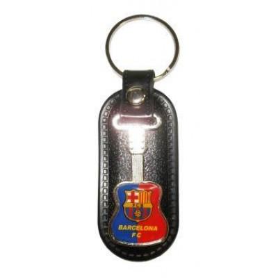Брелок ФК Барселона на кожаной подложке